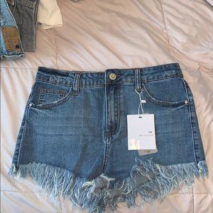 Fashion Nova Jean Shorts NWT